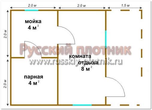 Проект Б-11 (баня 4х6)