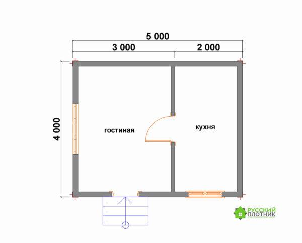Проект БР-57 (дом 4х5)