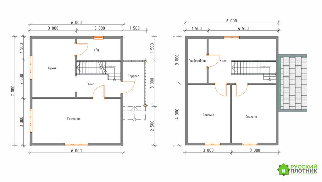 Построили дом 6х7 в Ленинградской области под усадку