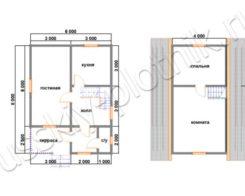 Проект БР-10 (дом 6х8)