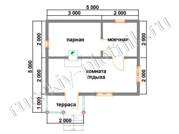 Проект Б-20 (баня 5х5)