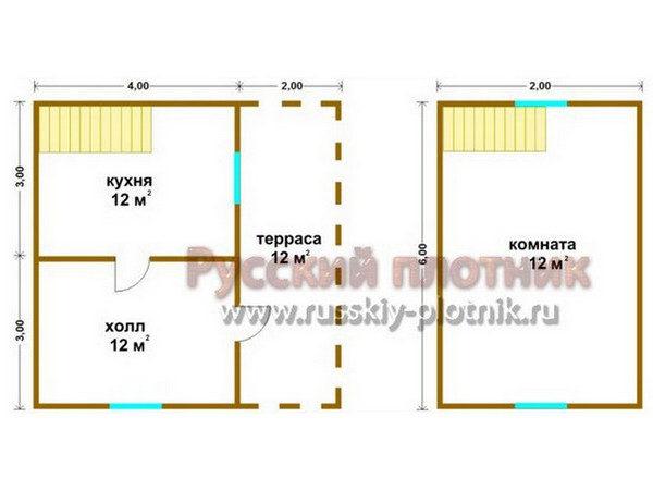 Проект БР-19 (дом 6х6)
