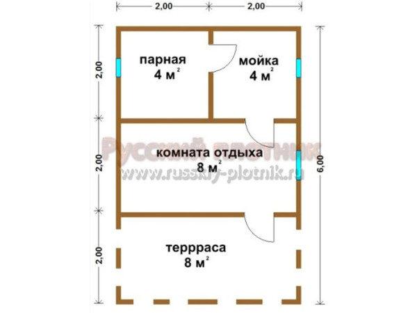 Проект Б-06 (баня 4х6)