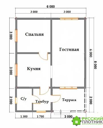 Построили одноэтажный дом 6х8 в Ленинградской области